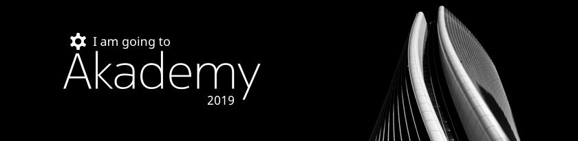 I'm going to Akademy 2019