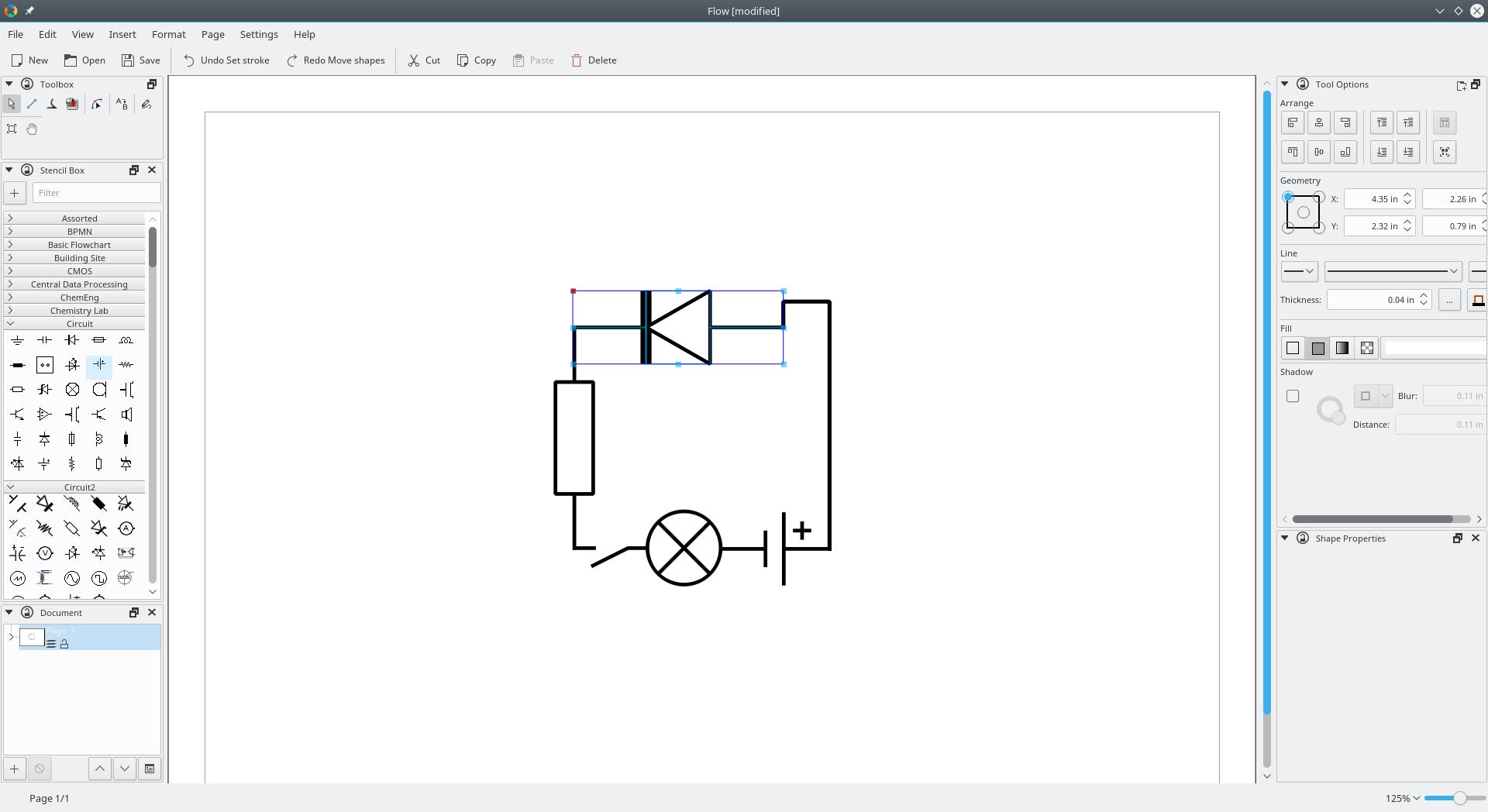 Kde Flow Flowchart Diagram Editing