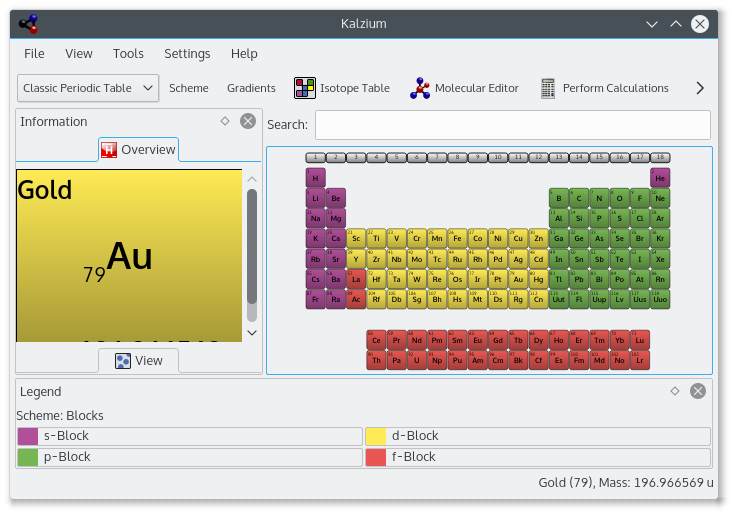 Kde kalzium periodic table of elements kalzium is your digital replacement for the periodic table on paper it is a program that visualizes the periodic table of elements pse and includes basic urtaz Image collections