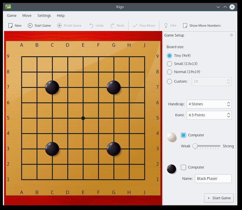 KDE - Kigo - Go Board Game