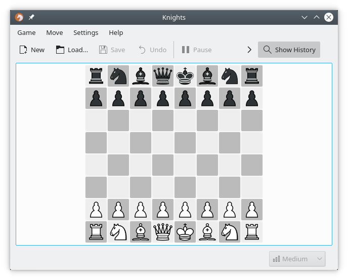 Knights, chess game