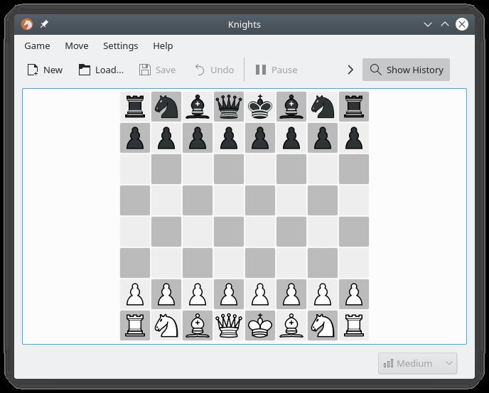 Knights, un joc d'escacs
