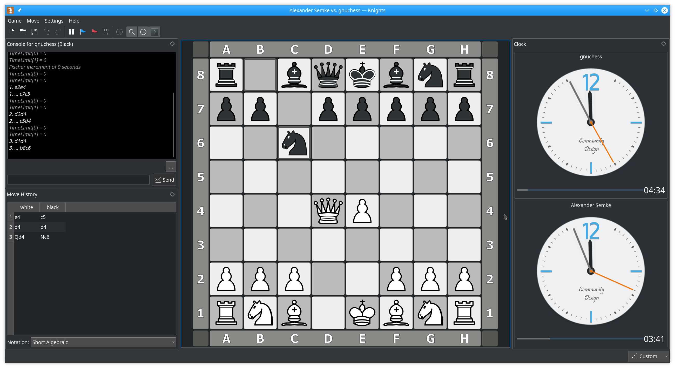 KNights - Chess game - KDE org