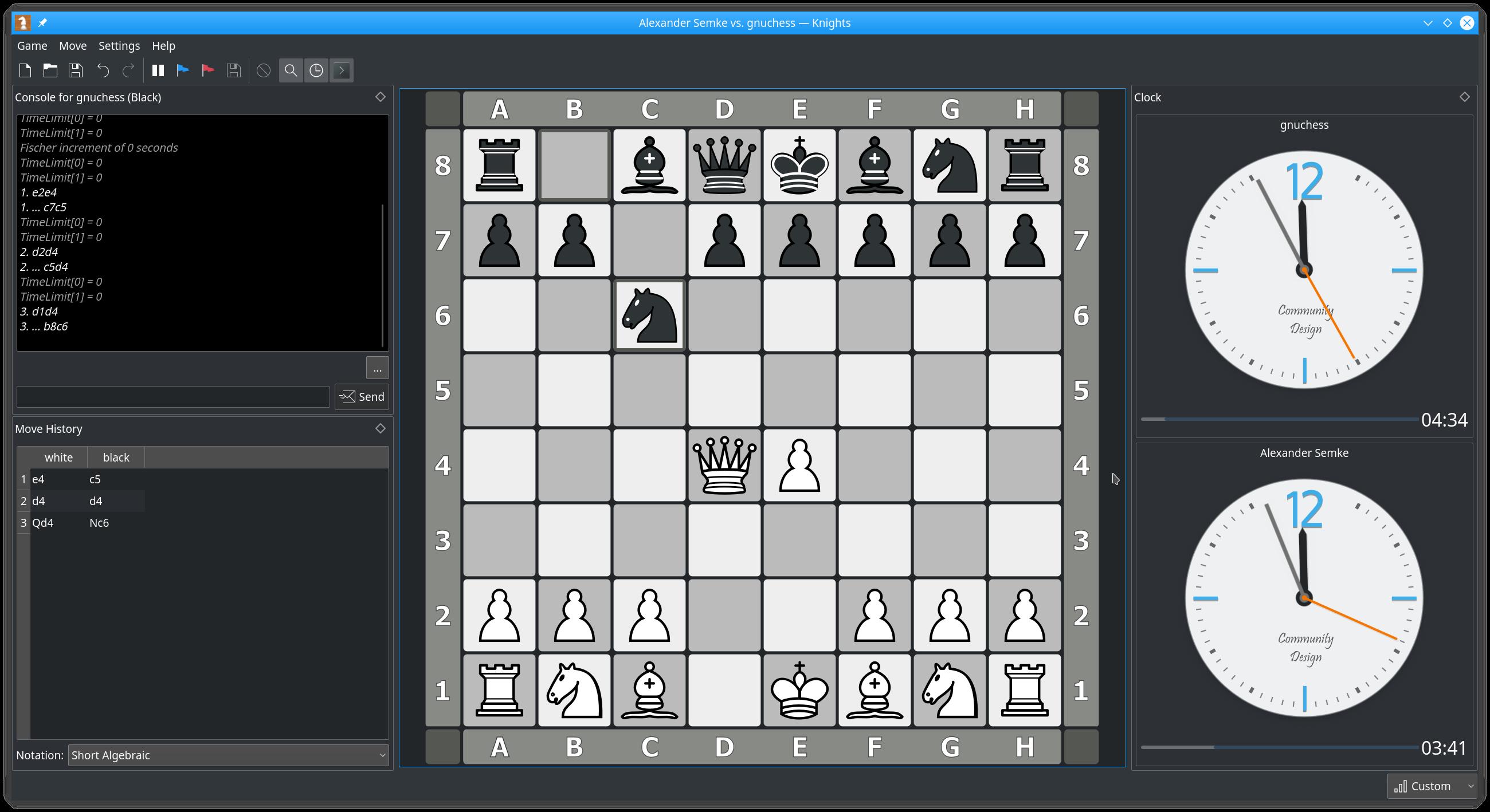 Hauptfenster - Mensch gegen Schachmodul