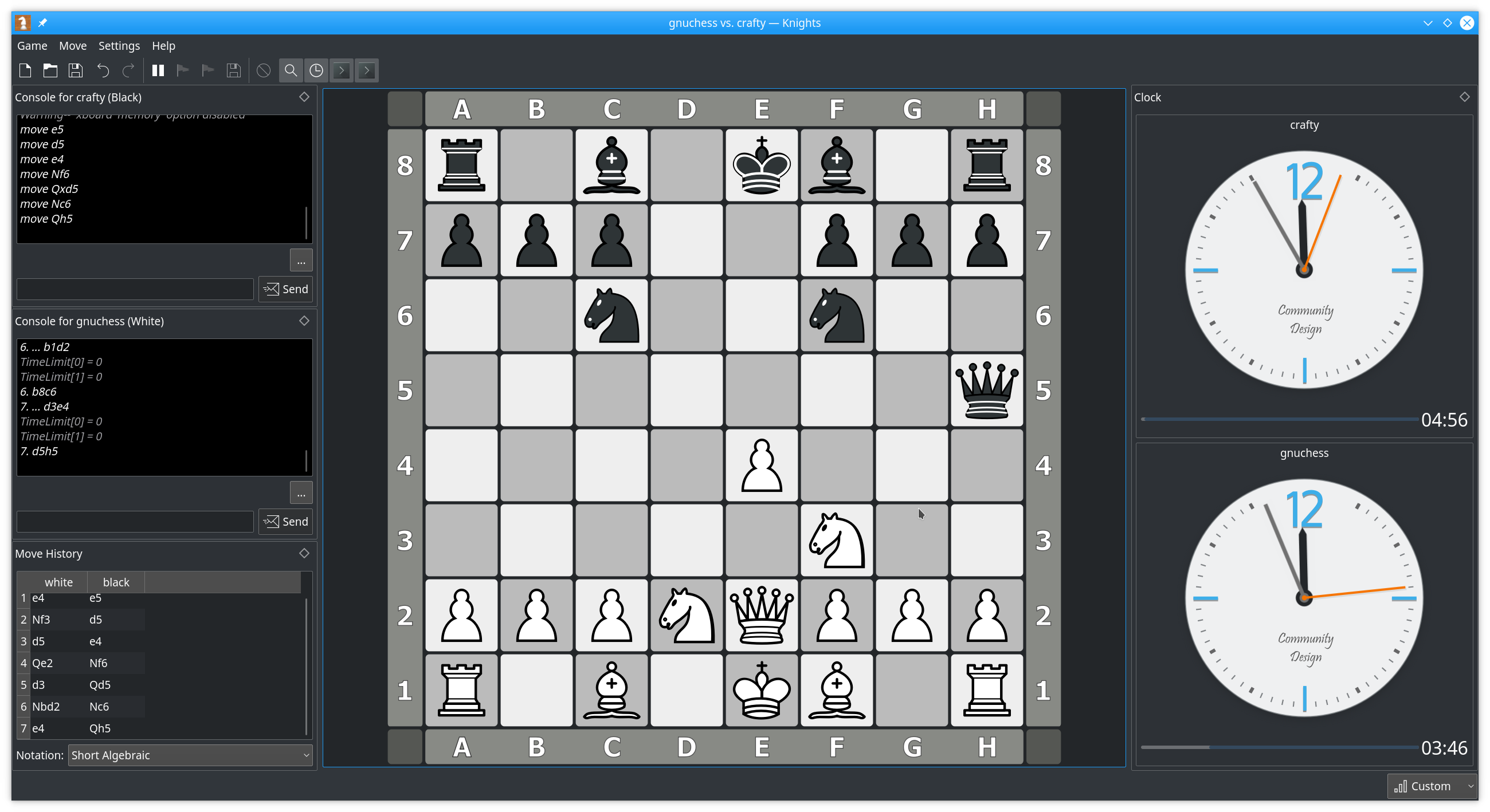 Main Window - Chess Engine vs. Chess Engine